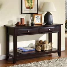 furniture of america cm4265dk s baldwin sofa table - Sofa Table Decor