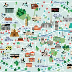 An Illustrated Hipster Food Map  Edible Dublin  Hipster food
