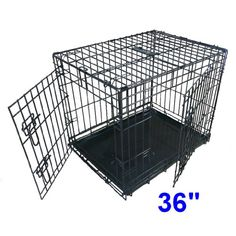 Ellie-Bo Dog Puppy Cage Folding 2 Door Crate with Non-Chew Metal Tray Large 36-inch Black Ellie-Bo http://www.amazon.co.uk/dp/B003627K0M/ref=cm_sw_r_pi_dp_2CX8vb0JC1XS2