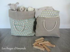 - The Almond Angels, # En savoir plus sur decoration. - basket and crate - Decor Creative Bag, Baby Couture, Creation Couture, Jute Bags, Sewing Accessories, Handmade Bags, Diy For Kids, Diy Gifts, Purses And Bags