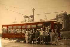 In 1932 these Poly High School students posed with a streetcar painted in Poly school colors outside the 1922 building on Nashville Avenue. (Photo from Texas Traction Company. Bicycle Seats, Across The Border, School Colors, Fort Worth, Nashville, Dallas, High School, Students, Texas