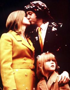 Paul and Linda McCartney on their wedding day in 1969.