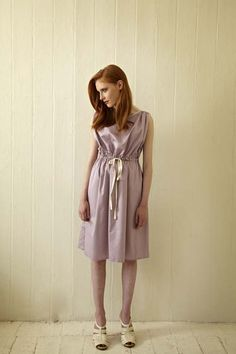 Organic cotton sateen dress