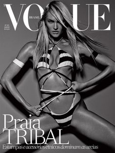 Candice Swanepoel for Vogue Brazil January 2014 photographed by Mariano Vivanco & Zee Nunes