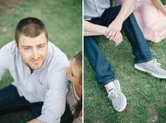 Taking engagement photos at the orchard is a must!