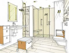 1000 images about ada universal design on pinterest wheelchairs grab bars and houzz - Bathroom designs for seniors ...