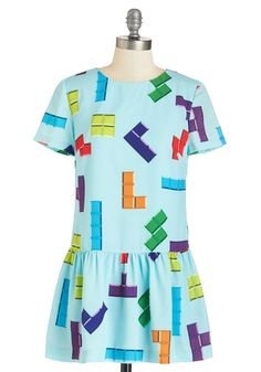 Cute #Tetris Dress for Spring