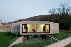 Hidalgo Hartmann Arquitectura completed a minimalist family home located in Girona, Spain and entitled Casa Pocafarina