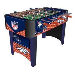 Denver Broncos foosball table