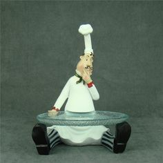 Chef Cake, Chef Kitchen Decor, Italian Chef, Pasta Flexible, Plates And Bowls, Polymer Clay Crafts, Craft Stick Crafts, Cute Art, Isabel Toledo