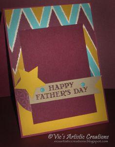 #stampinup #vicsartisticcreations #bohemianDSP #Father'sDay #GuyGreetings #mojomonday408