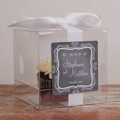 wedding favor cupcake box  ~  we ❤ this! moncheribridals.com #edibleweddingfavors