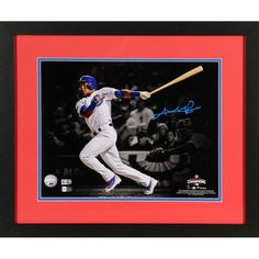 """Addison Russell Chicago Cubs Fanatics Authentic Framed Autographed 11"""" x 14"""" 2016 NLCS Photograph"""