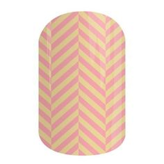 Just Peachy | Jamberry Nails Let your nails start a conversation with this amazing herringbone design in bright summer colors.  #JUSTPEACHYJN