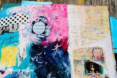 Art journaling is like a no-expiration date coupon to ignore the rules & graphic design principles that you are not in the mood to follow. When I am working in my journals, I have no illusion or goal of making anything beautiful. And I wind up where I wind up. I am making something tha