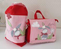 Kindergartentaschen - Sportbeutel/Turnbeutel Esel Namen - ein Designerstück von Feinerlei bei DaWanda