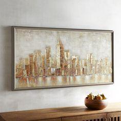 Framed Glimmer City Art