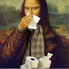 Joconda with a cold