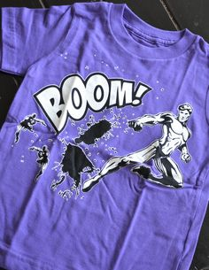 Boom Super Hero Tee Purple by YoungRoyaltyKids, On Sale now..