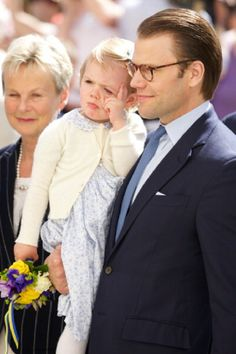 Swedish Princess Estelle and Prince Daniel visit Linkoping castle, 17.05.2014 in Linkoping, Sweden.