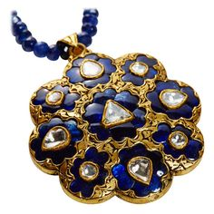 Jade Jagger Jaipur necklace with sapphires and polki diamonds   The Jewellery Editor