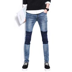 We love it and we know you also love it as well casual jeans homme 2017 new men's jeans washing wear mens patchwork jeans pants solid classic demin trousers CYG180 just only $18.35 - 21.75 with free shipping worldwide  #jeansformen Plese click on picture to see our special price for you