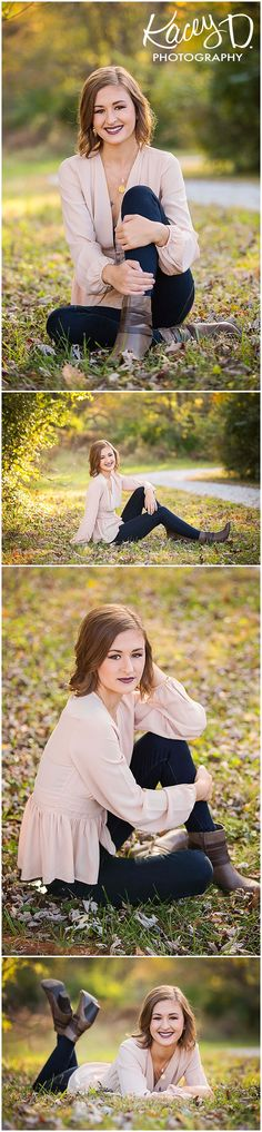 Perfect Fall/Spring Outfit for Senior Portraits - Photographer Columbia MO Kacey D Photography