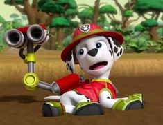Another Marshall Snapshot by on DeviantArt Personajes Paw Patrol, Los Paw Patrol, Paw Patrol Characters, Animated Cartoons, Kids Shows, Rescue Dogs, Sketches, Animation, Puppies