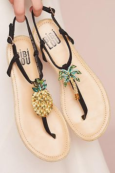 Bibi Lou Pinapple Palm Sandals