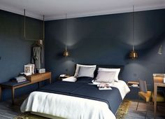 Despite the fact that the furniture and decor for COQ Hotel were made by French manufacturers, the interiors evokes thoughts of Scandinavian design. ✌Pufikhomes - source of home inspiration Coq Hotel Paris, Paris Hotels, Shanghai Hotels, Blue Bedroom, Master Bedroom, Bedroom Decor, Paris Bedroom, Cheap Home Decor, Interior Design Living Room