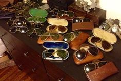 WW2 aviator collection. Ray Bans Bausch and Lomb AN-16531 sunglasses. SeaHawks personal collection and sold by eBay member schutzenfest42.