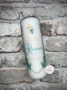 Personalised Christening Baptism Naming Day Candle   Irish   Girl   Boy   Neutral Personalised Custom Candle   Gaeilge Irish Girl Names, Irish Girls, Personalized Candles, Custom Candles, 6 Candles, Irish Language, Beautiful Candles, Ribbon Colors, Colour Schemes