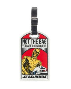 Star Wars Not The Bag You Are Looking For Droids C-3PO/R2-D2 Luggage Tag @ Amazon