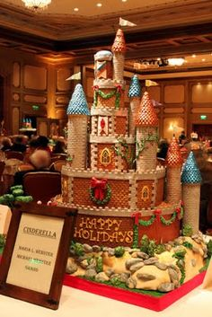Cinderella gingerbread castle
