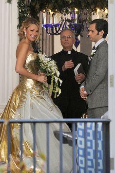 """O blog da Maria. Blake Lively com vestido de Georges Chakra em """"Gossip Girl"""". #casamento #vestidodenoiva"""