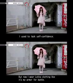 """I wear Lolita clothing like it's my armor for battle."" Misako is Inspirational."