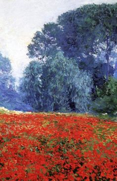 Poppy Field by Guy Rose. Oil painting on canvas. Impressionism , from Iryna