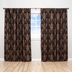Sherry Kline China Art Black 84-inch Luxury Jacquard Curtain Panel Pair | Overstock.com Shopping - Great Deals on Sherry Kline Curtains