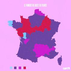 Top 13 des cartes de France vue autrement, c'est vrai que ça change