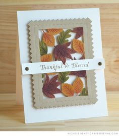 Thankful & Blessed Card by Nichole Heady for Papertrey Ink (August 2017)