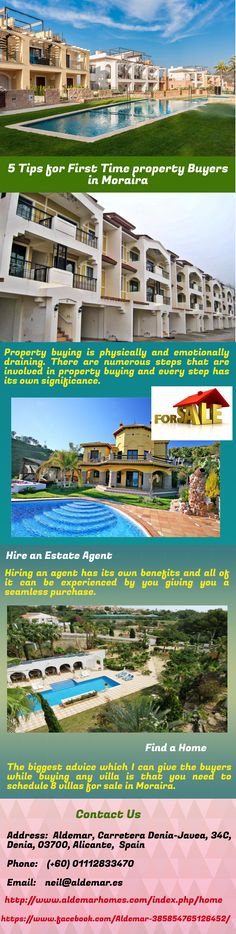 There are 5 basic steps to a perfect property purchase and every person who is willing to buy a property in moraira.