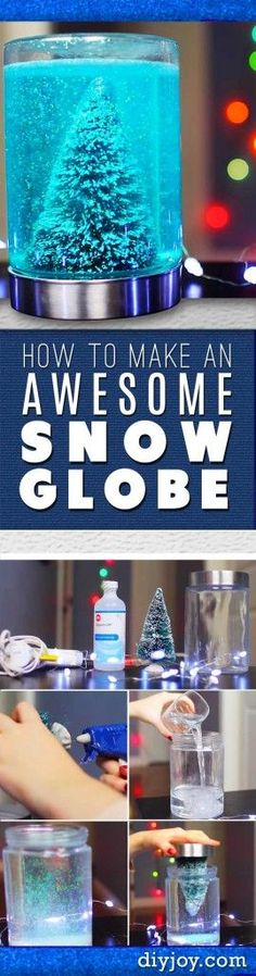 DIY Christmas Decorations - Homemade Christmas Crafts - How To Make A Snow Globe…