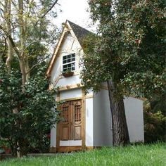 This German-inspired playhouse was built by a reader around a pair of 200-year-old doors he had purchased 20 years before finding the perfect home for them. | thisoldhouse.com