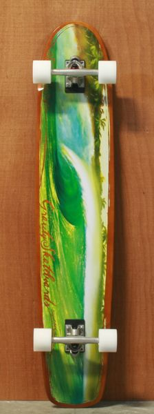 """Gravity 45"""" Shades of Emerald Longboard Complete    Im getting this. <3"""