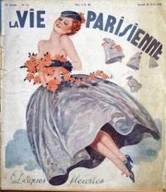 Georges Léonnec (1881 – 1940). La Vie Parisienne, 20 Avril 1935. [Pinned 3-ii-2015]