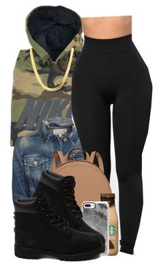 """.Simple."" by reese123 ❤ liked on Polyvore featuring NIKE, rag & bone/JEAN, MICHAEL Michael Kors, Casetify and Timberland"