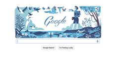 Today's Google doodle honors marine biologist and conservationist Rachel Carson!