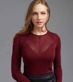 Long Sleeve Sweater with Open Stitch