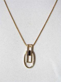 Lia Sophia gold tone necklace w/pendant silde? - retired-  current bid $6.00