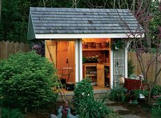 A shed is the perfect catchall for tools, equipment, and gardening supplies. Get inspired to build a shed in your backyard with these great ideas.